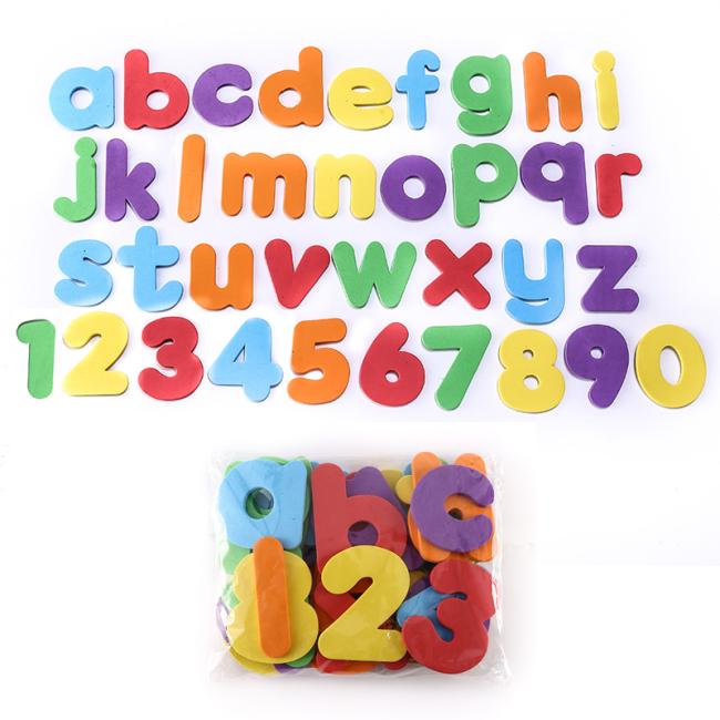 2020 New Arrival Eva 36 Color Pieces Alphabet Tape Infants Young Children Swimming Bath Early Education Foam Bath Toys