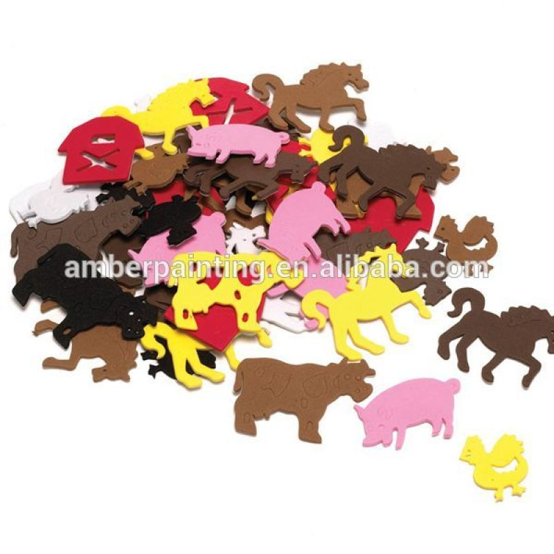 Custom shape self adhesive eva foam wallstickers for promotion