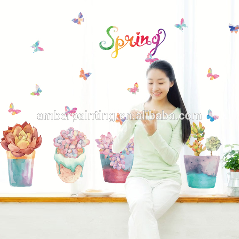 new arrival decorative floral wall decals flowers for kids