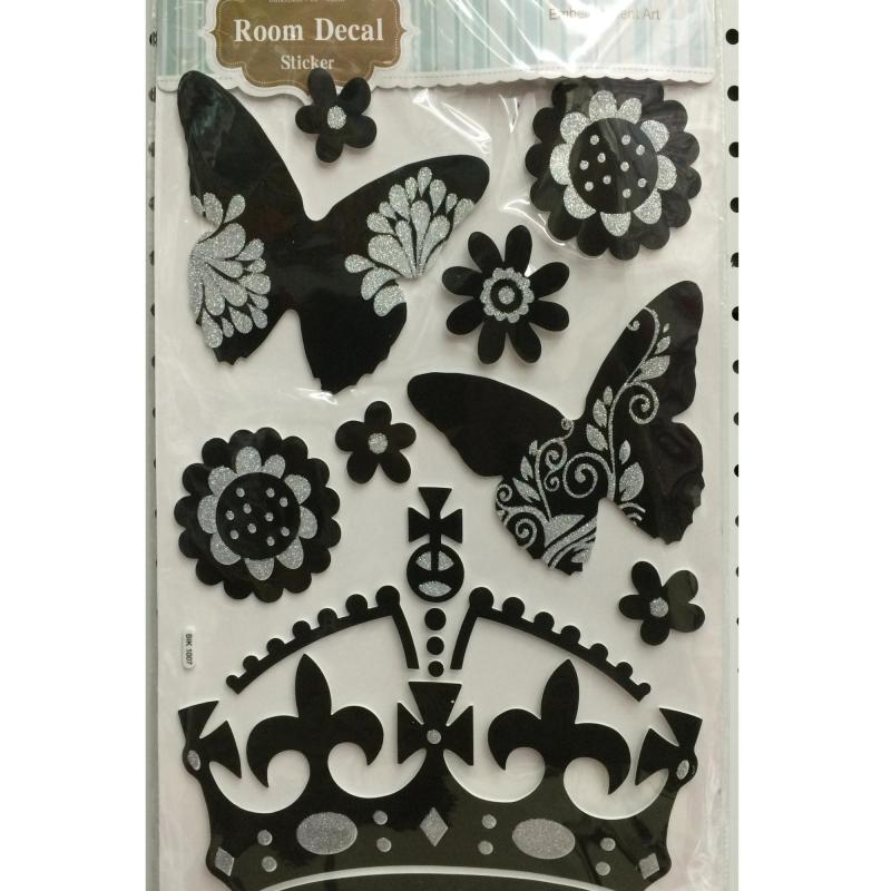 Excellent quality professional wall decorate glitter eva sticker