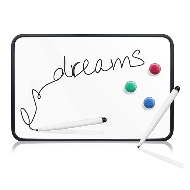 Educational small cheap fridge writable magnet toy whiteboard customize mobile desktop whiteboard