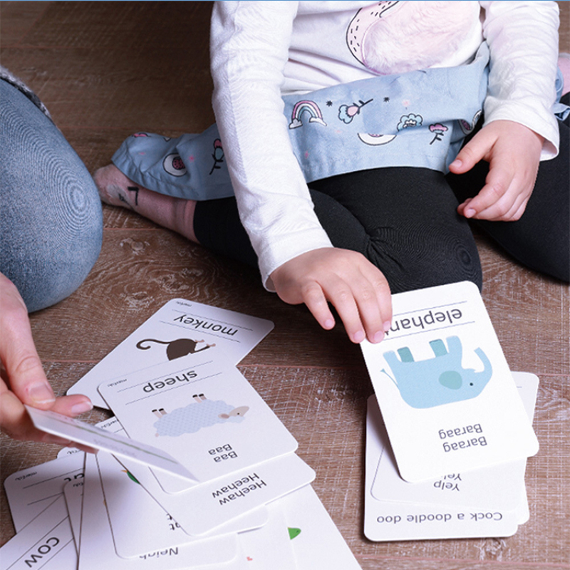 Custom printed paper children puzzle flash cards