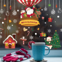 Amazon Best Selling  High Quality PVC Christmas Wall Stickers