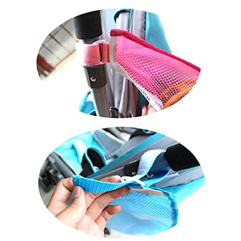 baby stroller organizer bag for storage diaper toy with mesh fabric