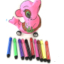 new educational game kids diy drawing painting balloon toy