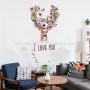 embellishment art wall stickers home decor reindeer love faith wall decals