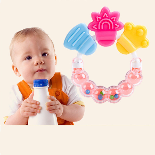 Hot sale new design silicone beads baby teether