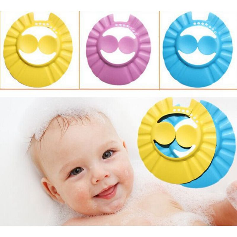 High quality protective baby shower cap / baby bath shampoo cap