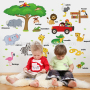 Home decorations wall baby tree wall decals boys cars