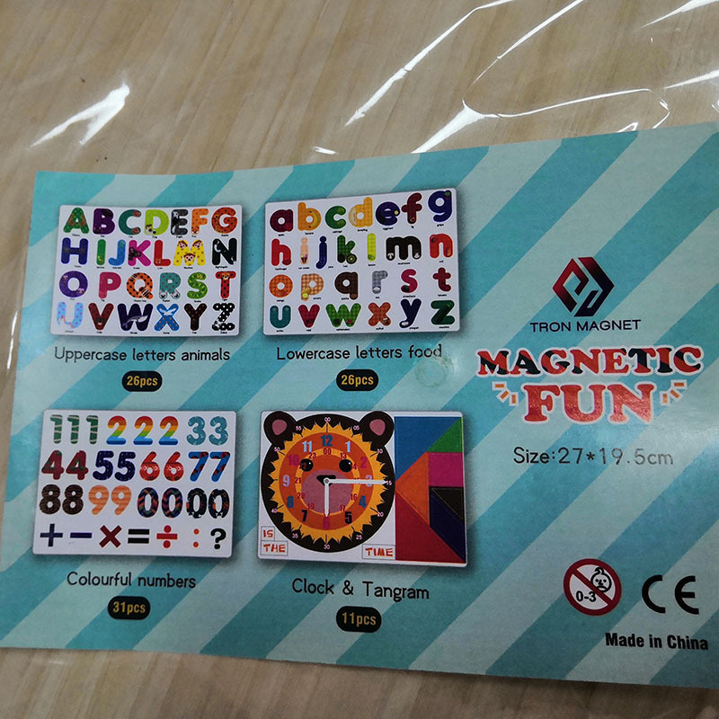 Custom made promotion magnetic letter stickers foam alphabet sticker