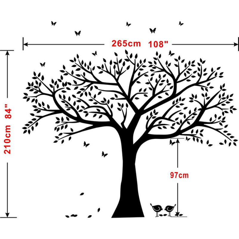 giant family tree wall sticker vinyl art home decoration Family Like Branches On A Tree for Bedroom