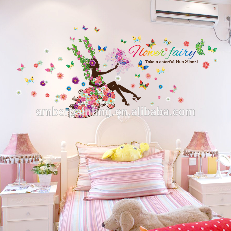 fairy butterfly colorful office wall decals for kids rooms decor