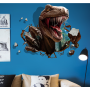 3d bedroom animal wall stickers of dinosaur for children