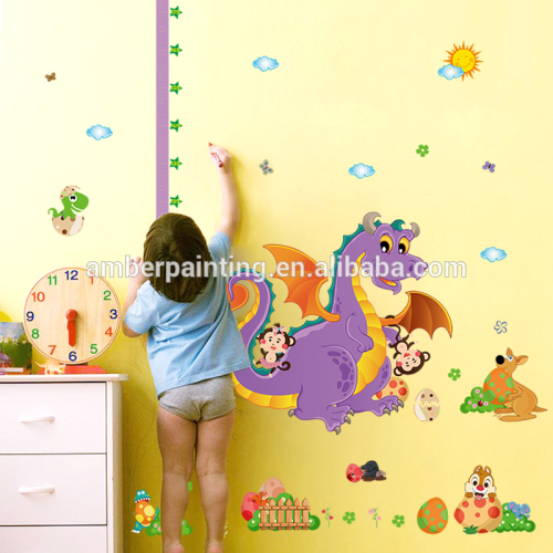 dinosaur vinyl wall decals large small kids growth chart height measure