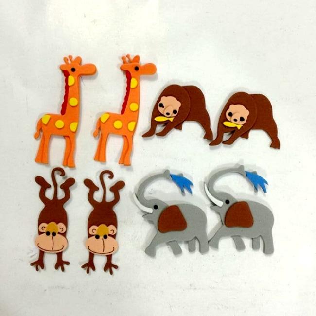 Free style custom educational 3d puzzle eva foam sticker