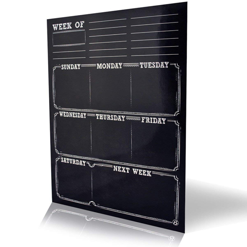 customized magnetic chalkboard wall sticker organizer and planner for fridge and wall