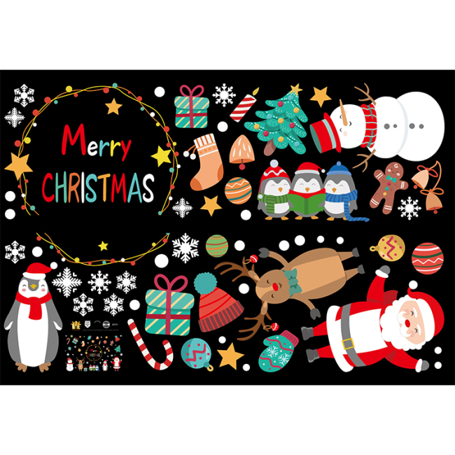 Amazon Hot Sales High Quality PVC Christmas Wall Stickers