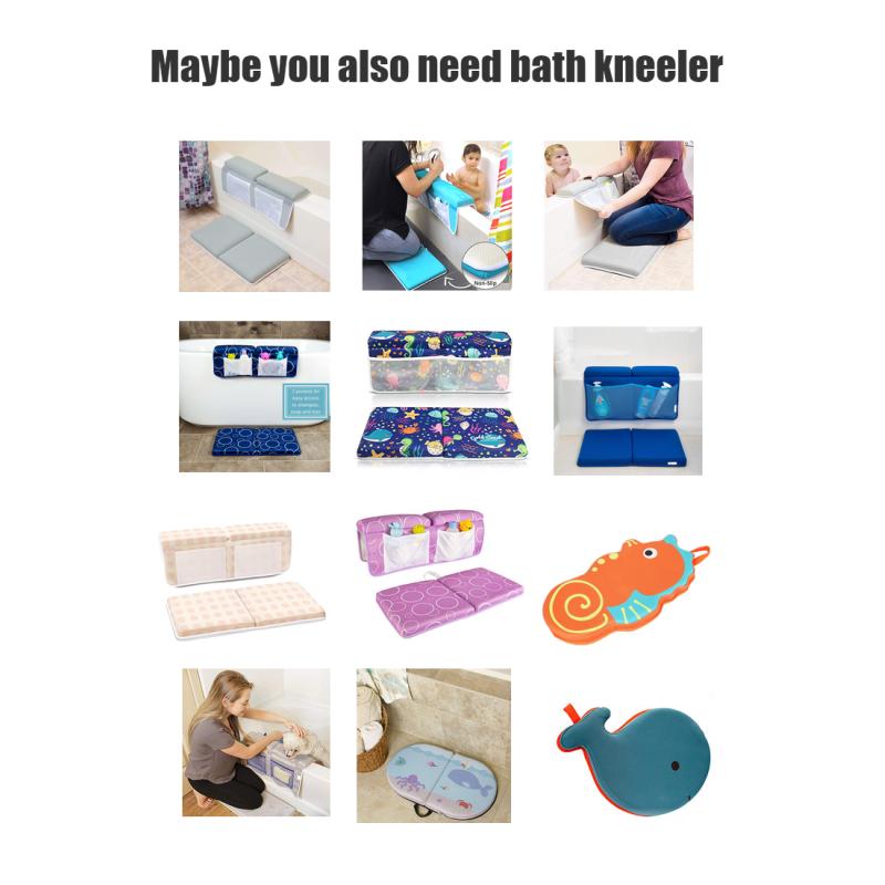 Bath kneeler and elbow padded w/toy organizer restm cartoon ODM OEM