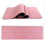 Custom high-quality fitness pu tpe yoga mat 6 mm pink yoga mat
