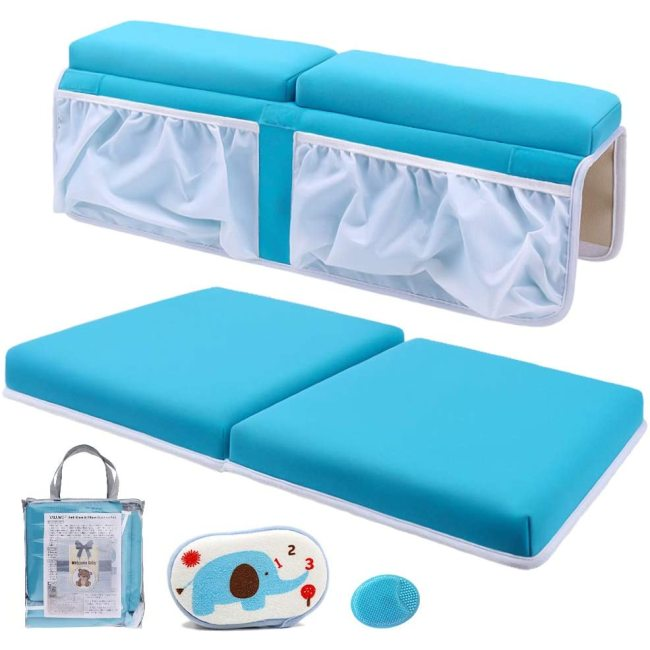 Bath Kneeler and Elbow Rest Set Thick Baby Bath Kneeling Pad Bathing Kneeling Mat Cushion Washable Padded Bathtub Knee Mat