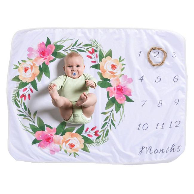 Baby Monthly Milestone Blanket Double Side 3x Fluffier Newborn  Blanket 47x47 Inch Super Soft Fleece Milestone Blanket