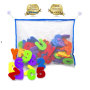Foam bath tub toys including letters and numbers for kids bath time