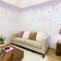 lavender make up wall decals nursery kids room