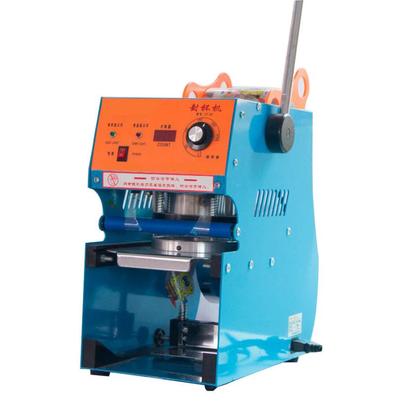 95mm 75mm Digital Semi-Automatic Manual Plastic Cup Sealing Cup Sealer Machine