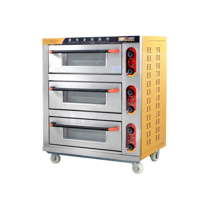 3 Layer Commercial Electric Bread Pizza Oven Cake Egg Tarts Ovens