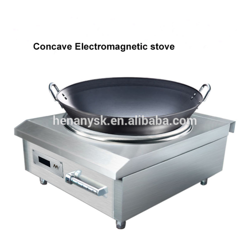 High-Power 8KW Stainless Steel Concave Electro Magnetic Stove Induction Cooker