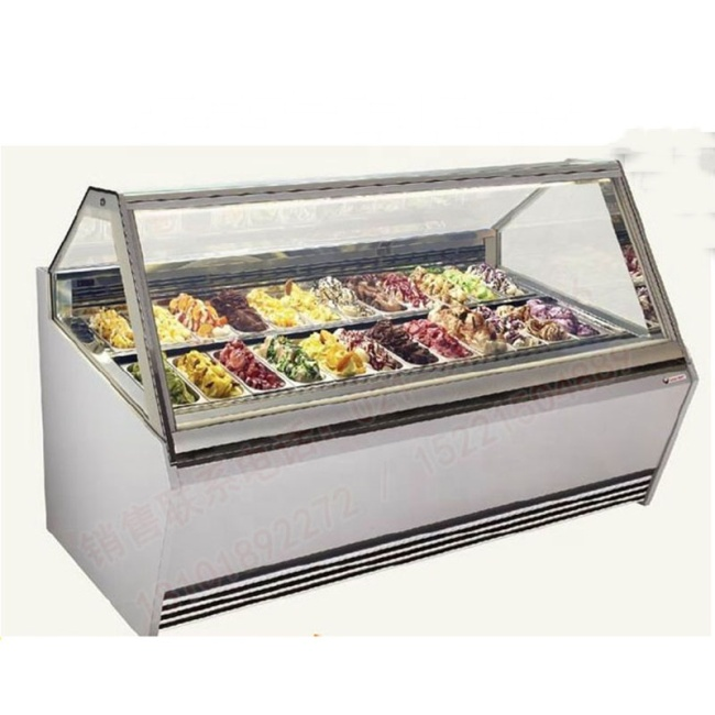 IS-12 New Design Ice Cream Rotating Eyeshadow Cold Display Case for Sale