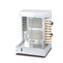 Vertical Broiler - Automatic 2 Burners Machine with 10 Side Kebab Skewers Doner Kebab Shawarma Gas Burner Grill