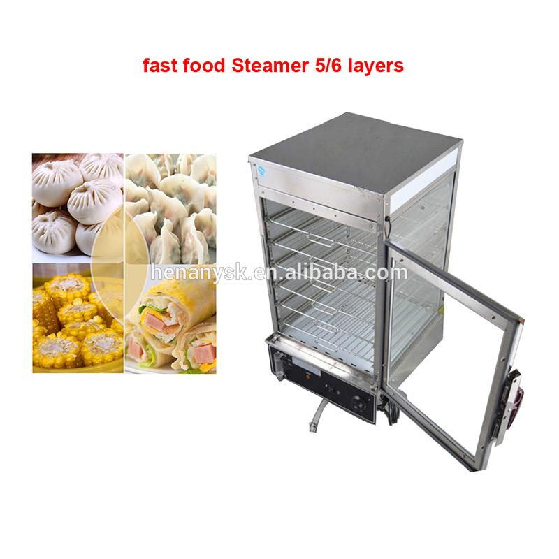 Commercial Adjustable Salamander Fast Food Electric Dough Food Soup Dumpling Steamer Bread Bun Steamers