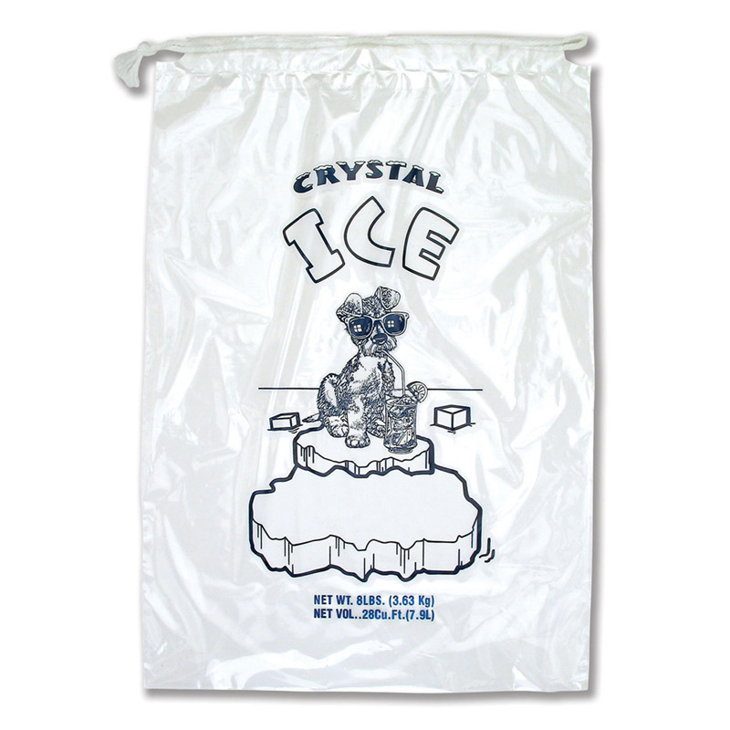 1-5kg loading Capacity Ice cube Storage Bags Plastic Alimentary Bag with Draw String
