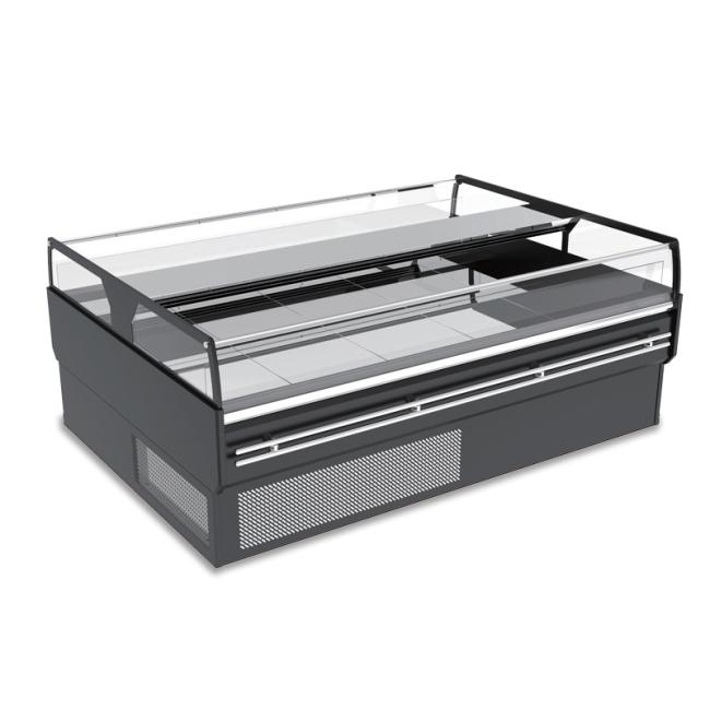 2 temperature 2-8 -18Meat Freezer Fridge Showcase Cabinet Refrigerant Cake Display Service Counter Freezer Refrigerator for sale