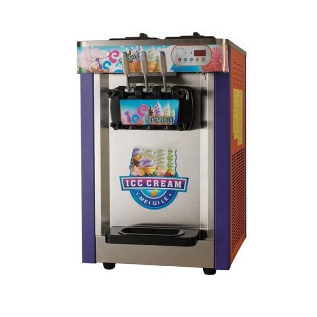 IS-Q-L22A Three-Colour Desktop Ice Cream Machinery Coffee Shop Equipment Ice Cream Machine Soft Ice Machine