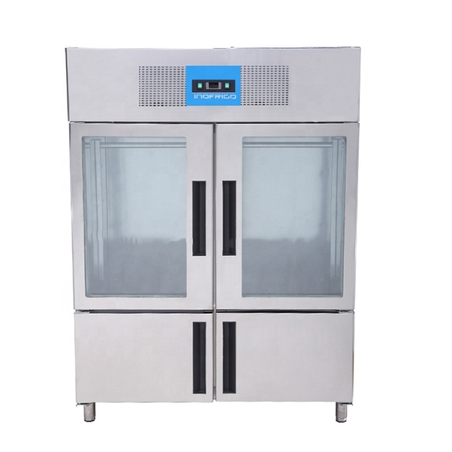 Stainless Steel 2 big door Commercial Refrigerators Fan Cooling Vertical Meat Hanging Freezer Refrigerator Cabinet