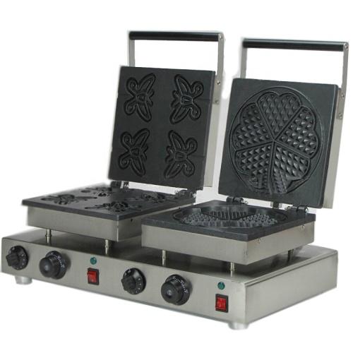 2 Pcs Heat Shape Waffle Making Machine Gift Shape Heart Shape Waffle Maker Machine
