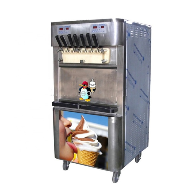 7 Color Soft Serve Ice Cream Making Maker Machine
