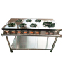 4 / 5 / 7 Head LPG Natural Gas Burner Stove Cooktop Burners For Home / Restaurant Efficiency Fire