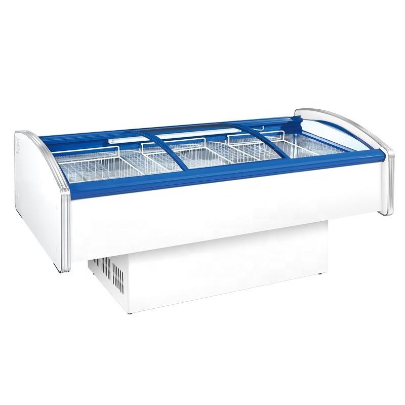 Large Capacity Seafood Fresh Horizontal Display Freezer
