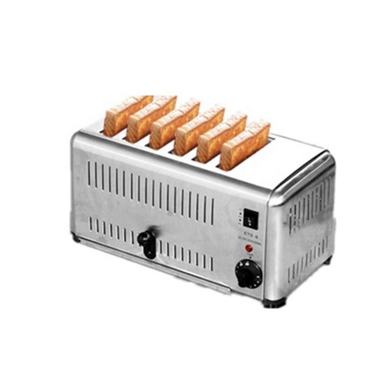 Electric 6 Piece Bread Baking Machine Cake Conveyor Toaster 2500w