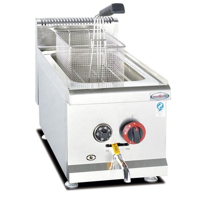 14L/ 1 Tank KFC Table Top Chicken Legs Meat Ball Potato Gas Fryer Machine