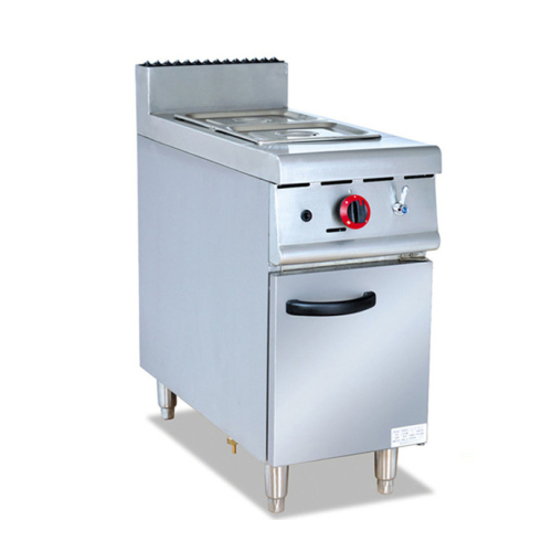 IS-GH-974 Vertical Buffet Gas Heating Stove Keep Soup Warm 2tanks Stainless Steel Commercial Bain Marie Food Warmer