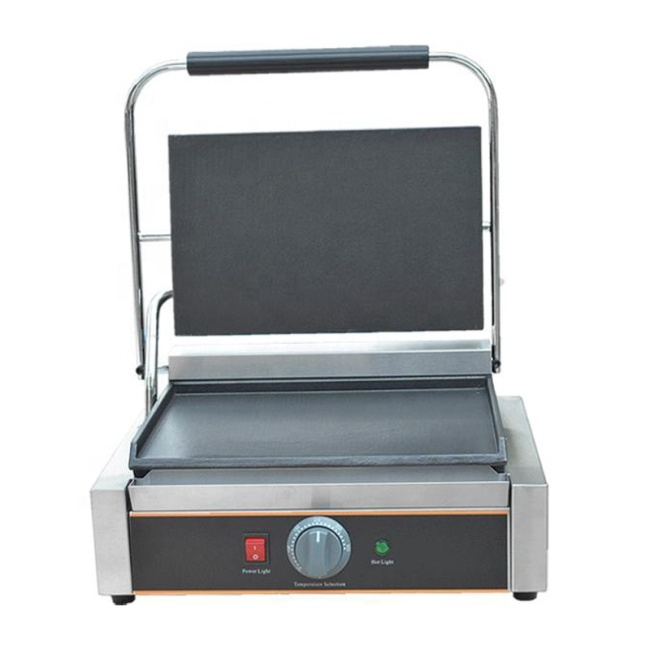 Flat Griddle Table Top Panini Machine Iron Plate Sandwich Maker Panini Press Commercial