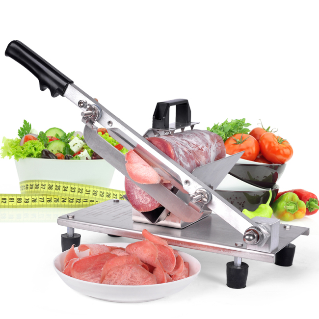 Commercial Home Newly Design Manual Frozen Meat Rolling Potato Carrot Slicer Slicing Machine