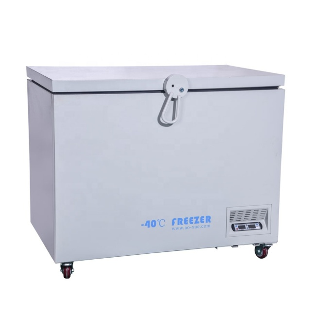 DW-40W258L -40 degree  Horizontal Electric Pharmacy Lab Refrigerators Industrial Cooling Chamber Deep Freezer