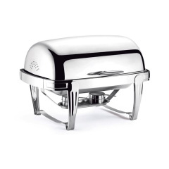 Stainless Steel Food Bowl Boiler Electric Heating Meal Stove Rectangular Food Warmers Chafing Dish Buffet For Catering