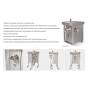 DM-32W 2 knife and 2 plates Electric Commercial Household Meat Grinder Stainless Steel Sausage Machine Meat Grinder