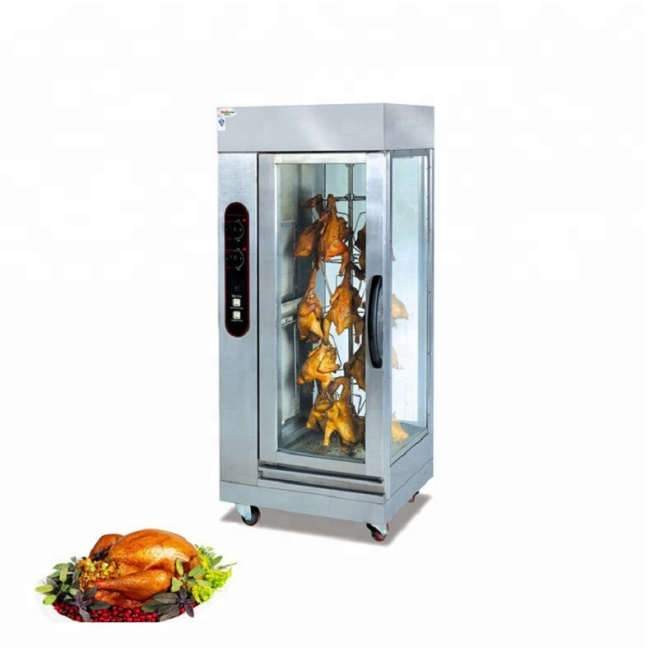Wholesale Commercial 16pcs Gas Electric Chicken Grill  Whole Chicken Machine Rotisserie Oven Rotation Price